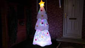 6ft white disco lights tree figure p000255
