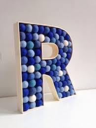 Letter Decorations For Nursery Felt Filled Wooden Letter R By Hoppsydaisy Nursery Decor