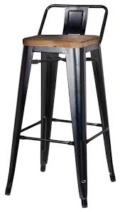 industrial metal bar stools with backs adjustable rustic industrial stool with back west elm within bar