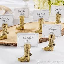 table top place card holders best western country cowboy boot place card holders wedding