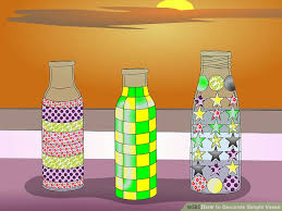 Decorate Water Bottle 3 Ways To Decorate Simple Vases Wikihow