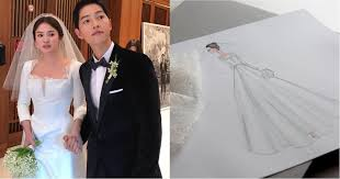 wedding dress song here s why song hye kyo s wedding dress was a work of