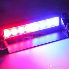 8 led blue car strobe flash light dash emergency 3