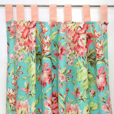 Pink And Green Curtains Nursery by Coral Camila Bumperless Crib Bedding Caden Lane