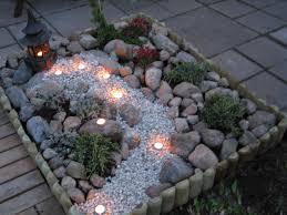 Diy Japanese Rock Garden Escalera Lateral Izquierda Que Desciende Al Rectángulo Jardín