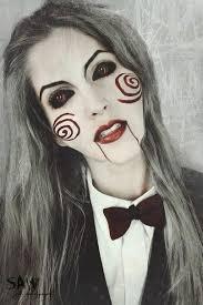 resultado de imagen para maquillaje de halloween saw mujer