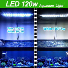 led aquarium lights for reef tanks aquarium coral reef tank white blue led lamb grow light 120w provide