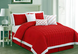 bedding set horrible red comforter sets king size gorgeous red