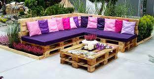 canapé de jardin en palette diy bricolage salon de jardin en palette canape angle table basse
