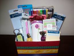 discount gift baskets office supply gift basket for college student or business