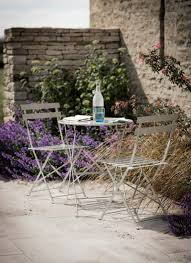 Metal Garden Table And Chairs Uk Rive Droite Bistro Set Small In Clay Steel Garden Trading