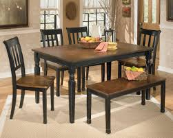 signature design by ashley owingsville 6 piece rectangular table