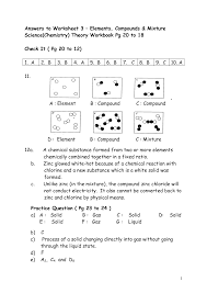 the elements worksheet answers 28 images element and element