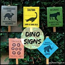 themed signs pdf set of 5 new dinosaur crossing signs dinosaur themed