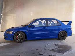 mitsubishi evo 7 2 fast 2 furious mitsubishi lancer evolution vii jdm blue autoart diecast model car