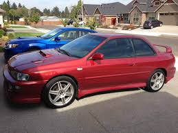 subaru rsti coupe fs for sale sold 2000 2 5rs two door coupe sedona red