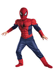 boys ultimate spider man classic muscle costume halloween costumes