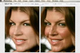 celebrity photoshop before and after air brush mirror online