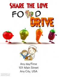 customizable design templates for food drive template postermywall
