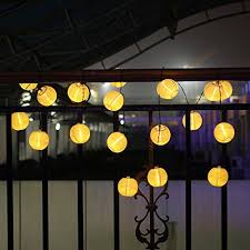 solar string lights outdoor 15 7ft 20 led lights warm white