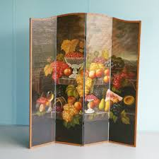 large punched metal room divider screen 1970s 67424