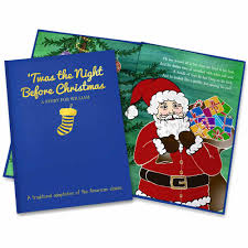 personalized u0027twas the night before christmas book simply