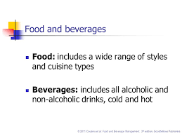 cuisine types food and beverage management ppt