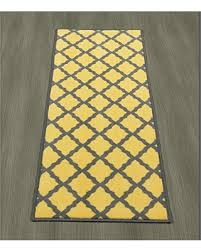 Yellow Runner Rug Find The Best Savings On Ottomanson Studio Collection Moroccan