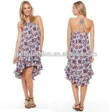 wholesale ladies beach dresses floral print midi dresses for women