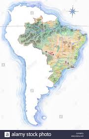 World Map Equator by Highly Detailed Hand Drawn Map Of Brazil Within The Outline Of