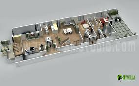 3d Floor Plan Online by 3 Bedroom With Office House Plans Home Pleasantwith Bedroomed 3d
