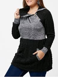 plus size cable knit sweater plus size cable knit sweater with pockets black plus size