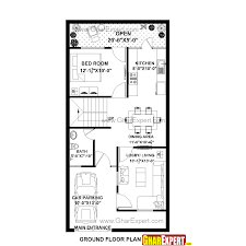 house plan for 22 feet by 45 feet plot plot size 110 square yards