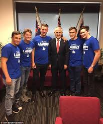 seconds of summer a team mp craig laundy s son and friends seen dabbing behind mp during