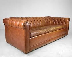 Leather Sofa Sleeper Leather Sofa Etsy