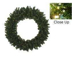 30 pre lit battery operated canadian pine wreath clear