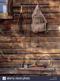 fishing vest stock photos fishing vest stock images alamy fly fishing rods nets and fly boxes and fishing vest hanging on outside wall of fishing