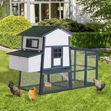 aosom pawhut large backyard chicken coop w long run