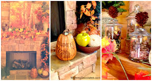 spring decorations for the home ideas for decorating your fireplace mantel for fall time