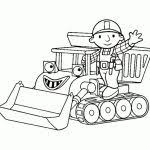 free printable bob builder coloring pages kids bob