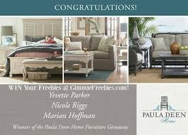 10 000 paula deen furniture giveaway 3 winners