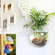 pot wall hanging mount bubble aquarium bowl fish tank aquarium