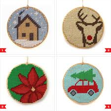 christmas needlepoint awesome etsy find christmas ornament needlepoint kits by modern