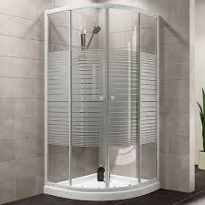 plumbsure quadrant shower enclosure with white frame double plumbsure quadrant shower enclosure with white frame double sliding doors w 800mm d 800mm departments diy at b q
