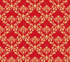 seamless antique pattern victorian style red wallpaper vector