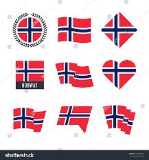 Norweigan Flag Norway Flag Vector Icons Logo Design Stock Vector 705080863