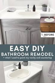 cost to paint kitchen and bathroom cabinets easy no fuss diy bathroom remodel the bewitchin kitchen