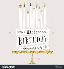 cute happy birthday card with cake and candles vector