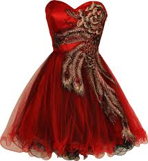 red peacock dress i actually kind of wish i was still in high