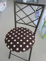 Round Outdoor Bistro Chair Cushions by Polka Dot Bistro Chair Cushion For The Garden Pinterest